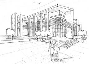 Architectural Rendering of proposed building